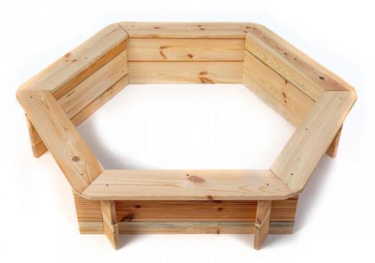 Dřevěné pískoviště - šestihranné