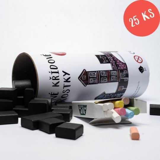 Křídové kostky – mix tvarů (25 ks)