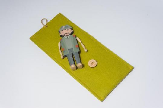 Dřevěná figurka - myslivec