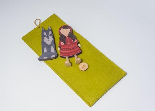Dřevěné figurky - červená Karkulka a vlk
