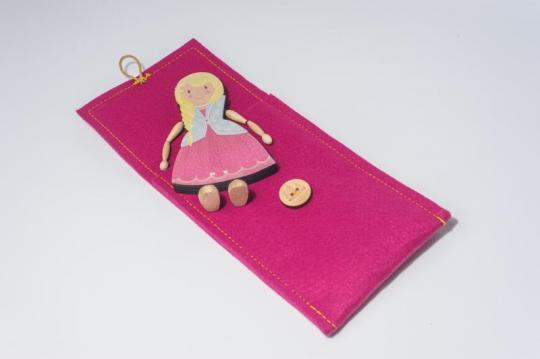 Dřevěná figurka - princezna