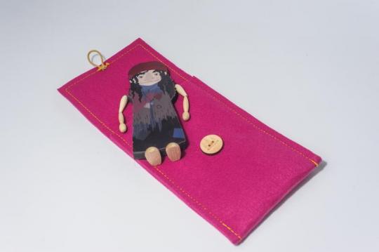 Dřevěná figurka - ježibaba