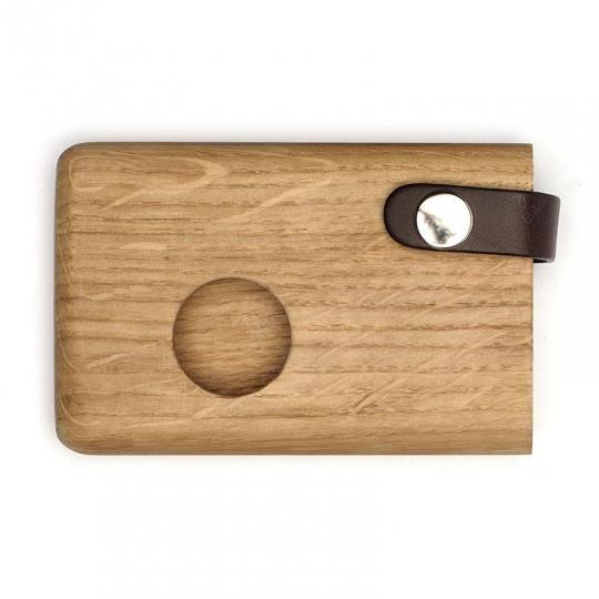 Malá peněženka/vizitkář z dubového dřeva