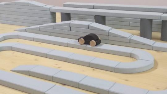 Dřevěná autodráha