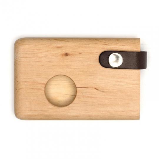 Malá peněženka/vizitkář z olšového dřeva