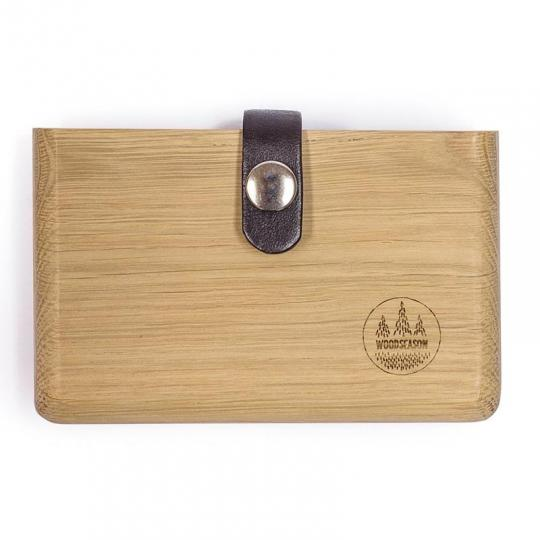Peněženka z dubového dřeva