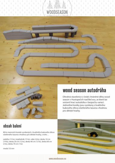 Dřevěná stavebnice - autodráha