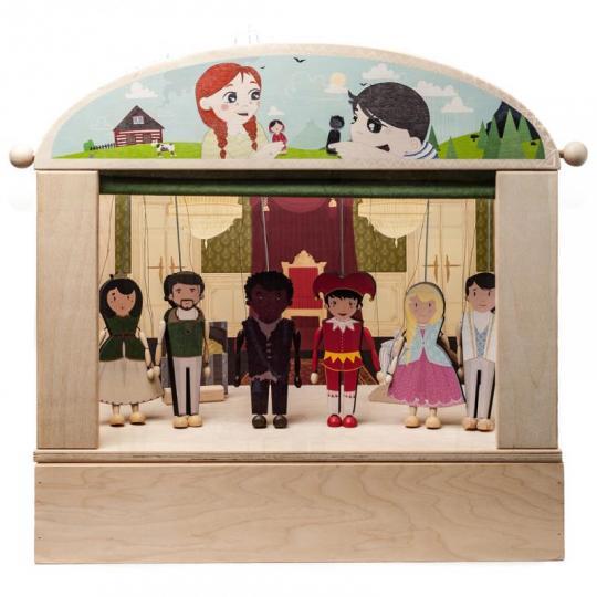 Loutkové divadlo wood season s krabicí