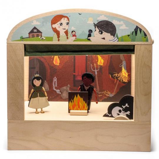 Loutkové divadlo s krabicí - wood season