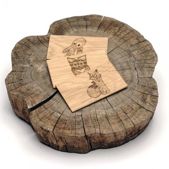 Vizitky z mixu dřevin (25 kousků)